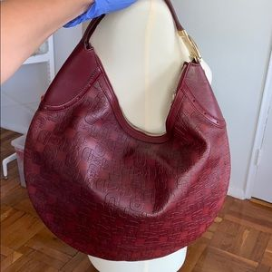 Gucci Horsebit Embossed Hobo Bag